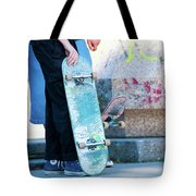 Detail Of Skateboard And Legs Tote Bag