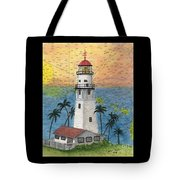 Diamond Head Lighthouse Hi Nautical Chart Map Art Tote Bag