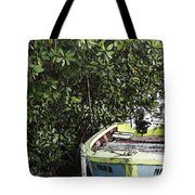 Docked By The Mangrove Trees Tote Bag
