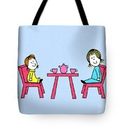 Doll Tea Party Tote Bag