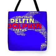 Dolphin Word Cloud Tote Bag