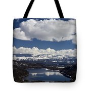 Donner Lake Donner Pass With Snow Tote Bag