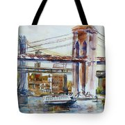 Downtown Bridge Tote Bag