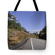 Driving Through A Rock Cut Tote Bag