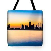 Dubai Skyline At Dusk Tote Bag