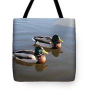 Ducks On Water Tote Bag