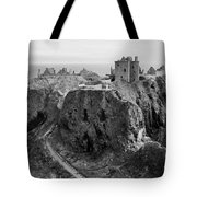 Dunnottar Castle Monochrome Tote Bag