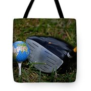 Earth Golf Ball And Golf Club Tote Bag