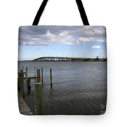 Eau Gallie Causeway Over The Indian River Lagoon At Melbourne Fl Tote Bag