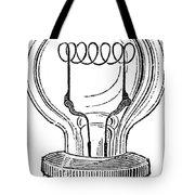 Edison Lamp, 19th Century Tote Bag by Granger