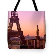 Eiffel Tower At Dawn / Paris Tote Bag by Barry O Carroll