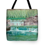Eighteenth Hole Ball In The Water Tote Bag