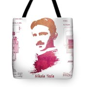 electric generator patent art Nikola Tesla Tote Bag