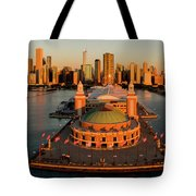 Elevated View Of The Navy Pier Tote Bag