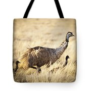 Emu Chicks Tote Bag by Tim Hester