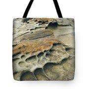 Eroded Sandstone Cliff Along The Ocean Tote Bag