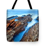 Eternal Tides - The Strange Jagged Rocks And Cliffs Of Montana De Oro State Park In California Tote Bag
