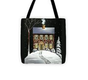 Evergreen Cottage Tote Bag
