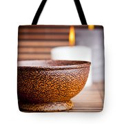 Exotic Bowl And Candles Tote Bag