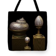 Faberge Style White Gold Tote Bag