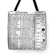 Family Almanac, 1874 Tote Bag