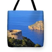 Famous Tower Of Savinar On Ibiza Island Tote Bag