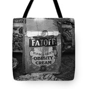 Fatoff Obesity Cream Bottled Electricity Store Window Ghost Town Virginia City Montana 1971 Tote Bag