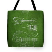 Fender Electric Guitar Patent Drawing From 1966 Tote Bag