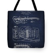 Fender Floating Tremolo Patent Drawing From 1961 - Navy Blue Tote Bag