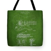 Fender Tremolo Device Patent Drawing From 1956 Tote Bag
