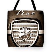 Fiat Abarth Emblem Tote Bag