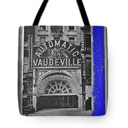 Film Homage Automatic 1 Cent Vaudeville Peep Show Arcade C.1890's New York City Collage 2013 Tote Bag
