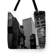 Film Homage The Fighting 69th 1940 Fr. Duffy Statue Yul Brynner Palace Theater New York 1977 Tote Bag