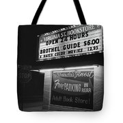 Film Noir Farewell My Lovely 1975 Brothel Guide Virginia St. Bookstore Reno Nevada 1979-2008 Tote Bag