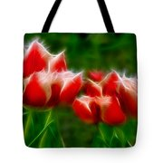 Fire And Ice Fractal Tote Bag