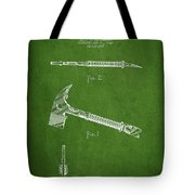 Fireman Axe Patent Drawing From 1940 Tote Bag