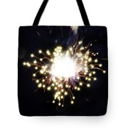 Fireworks Shell Burst Tote Bag by Jay Droggitis