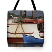 2 Fishing Boats At The Dock Tote Bag