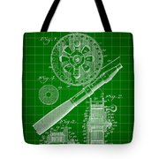 Fishing Reel Patent 1906 - Green Tote Bag