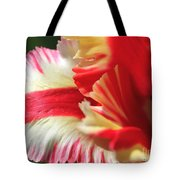 Flaming Parrot Tulip Tote Bag