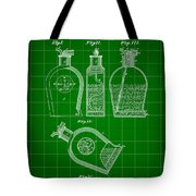 Flask Patent 1888 - Green Tote Bag