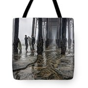 Fog At The Pier Tote Bag