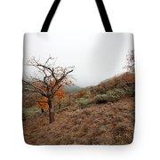Foggy Landscape Tote Bag