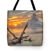 Folly Beach Driftwood Tote Bag