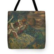 Four Dancers Tote Bag by Edgar Degas