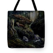 Fox In The Wood Tote Bag