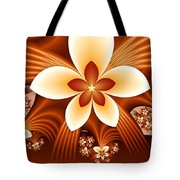Fractal Fantasy Flowers Tote Bag