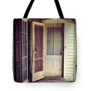 Front Door Of Abandoned House Tote Bag