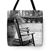 Front Porch Rockers - Bw Tote Bag