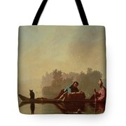 Fur Traders Descending The Missouri Tote Bag